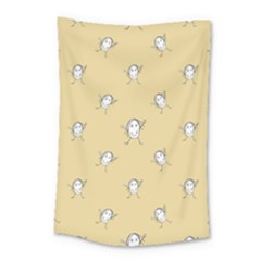 Happy Character Kids Motif Pattern Small Tapestry