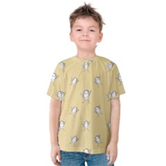 Happy Character Kids Motif Pattern Kids  Cotton Tee