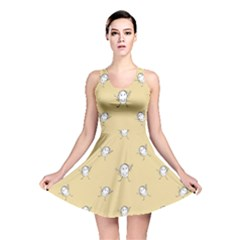 Happy Character Kids Motif Pattern Reversible Skater Dress