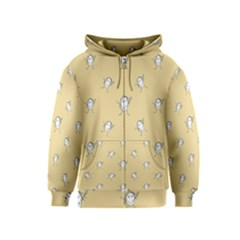Happy Character Kids Motif Pattern Kids  Zipper Hoodie
