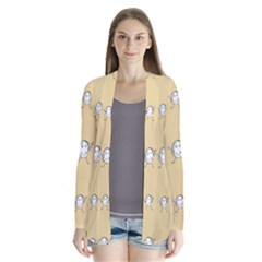 Happy Character Kids Motif Pattern Cardigans