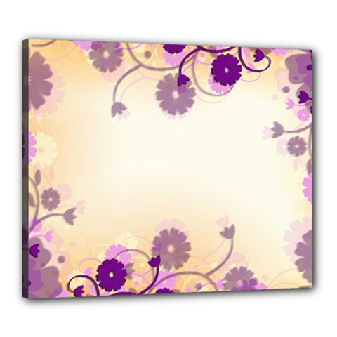 Background Floral Background Canvas 24  x 20