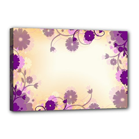 Background Floral Background Canvas 18  X 12