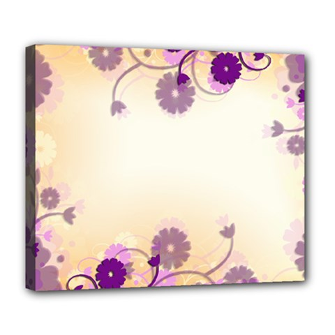 Background Floral Background Deluxe Canvas 24  x 20