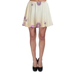 Background Floral Background Skater Skirt