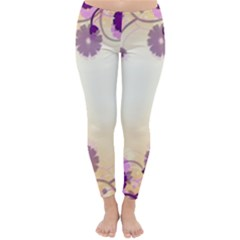 Background Floral Background Classic Winter Leggings