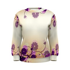 Background Floral Background Women s Sweatshirt