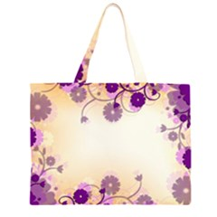 Background Floral Background Large Tote Bag