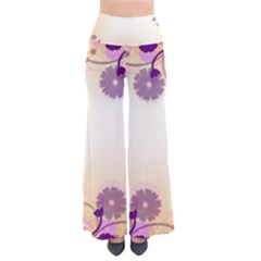 Background Floral Background Pants
