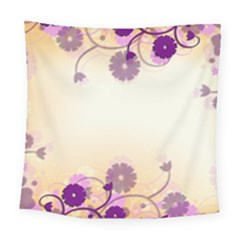 Background Floral Background Square Tapestry (Large)