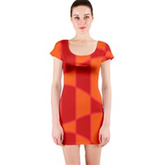 Background Texture Pattern Colorful Short Sleeve Bodycon Dress