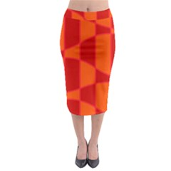 Background Texture Pattern Colorful Midi Pencil Skirt