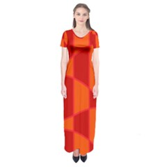 Background Texture Pattern Colorful Short Sleeve Maxi Dress
