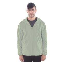 Background Pattern Green Hooded Wind Breaker (Men)