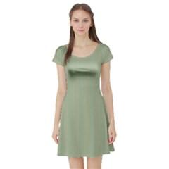 Background Pattern Green Short Sleeve Skater Dress