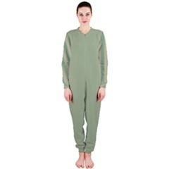 Background Pattern Green Onepiece Jumpsuit (ladies)