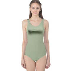Background Pattern Green One Piece Swimsuit