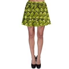 Basket Woven Braid Wicker Skater Skirt