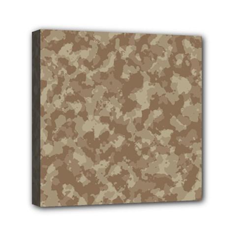 Camouflage Tarn Texture Pattern Mini Canvas 6  x 6