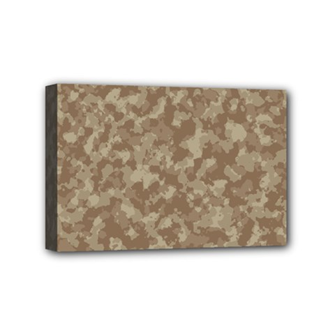 Camouflage Tarn Texture Pattern Mini Canvas 6  X 4