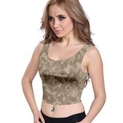 Camouflage Tarn Texture Pattern Crop Top