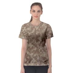 Camouflage Tarn Texture Pattern Women s Sport Mesh Tee