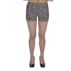 Camouflage Tarn Texture Pattern Skinny Shorts