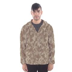 Camouflage Tarn Texture Pattern Hooded Wind Breaker (Men)