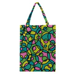 Circle Background Background Texture Classic Tote Bag
