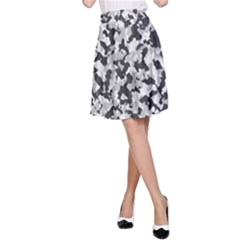 Camouflage Tarn Texture Pattern A-Line Skirt