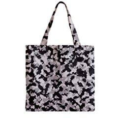 Camouflage Tarn Texture Pattern Zipper Grocery Tote Bag