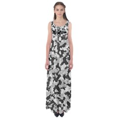 Camouflage Tarn Texture Pattern Empire Waist Maxi Dress