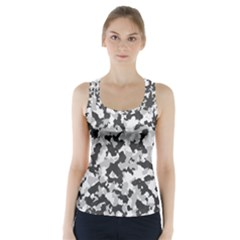Camouflage Tarn Texture Pattern Racer Back Sports Top
