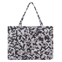 Camouflage Tarn Texture Pattern Medium Zipper Tote Bag