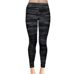 Dark Lake Ocean Pattern River Sea Leggings