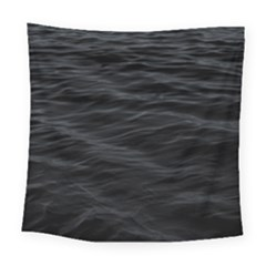 Dark Lake Ocean Pattern River Sea Square Tapestry (large)