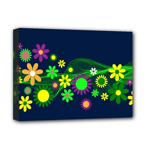 Flower Power Flowers Ornament Deluxe Canvas 16  x 12