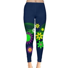 Flower Power Flowers Ornament Leggings