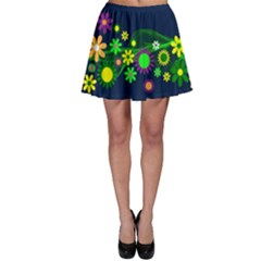 Flower Power Flowers Ornament Skater Skirt
