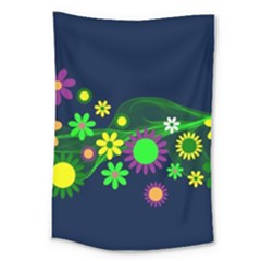 Flower Power Flowers Ornament Large Tapestry