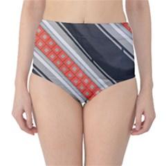 Bed Linen Microfibre Pattern High-Waist Bikini Bottoms