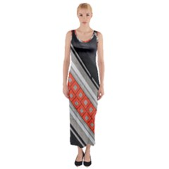Bed Linen Microfibre Pattern Fitted Maxi Dress