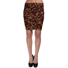 Camouflage Tarn Forest Texture Bodycon Skirt