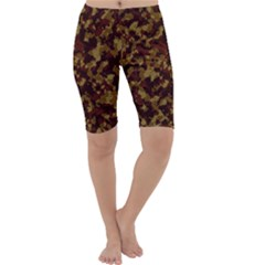 Camouflage Tarn Forest Texture Cropped Leggings