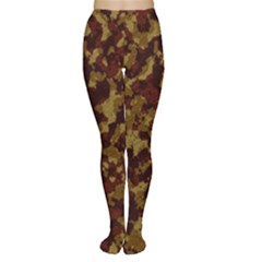 Camouflage Tarn Forest Texture Women s Tights