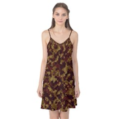 Camouflage Tarn Forest Texture Camis Nightgown