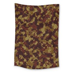 Camouflage Tarn Forest Texture Large Tapestry