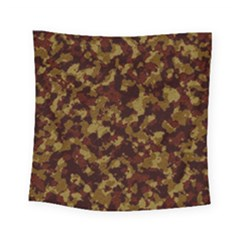 Camouflage Tarn Forest Texture Square Tapestry (Small)