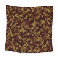 Camouflage Tarn Forest Texture Square Tapestry (Large)