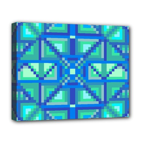 Grid Geometric Pattern Colorful Deluxe Canvas 20  x 16